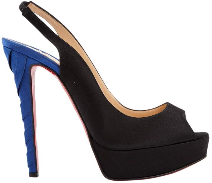 Christian Louboutin Private Number Black Cloth Heels