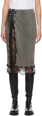 Christopher Kane Black Crystal Mesh Skirt
