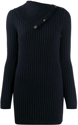 Saint Laurent Fold-Over Collar Jumper