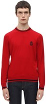 Billionaire CREST EMBROIDERED COTTON KNIT SWEATER