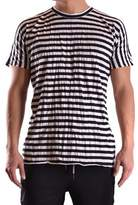 Barbara I Gongini Men's White/black Cotton T-shirt.