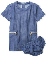 7 For All Mankind Newborn/Infant Girls) Two-Piece Chambray Dress & Bloomers Set