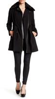 GUESS Faux Fur Collar Bonded Coat