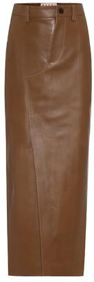 Marni Leather pencil skirt