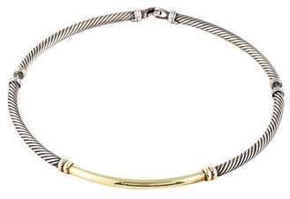 David Yurman Two-Tone Metro Choker Necklace
