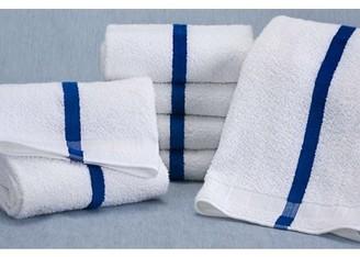 Martex Cotton Blend Striped Pool Towels, Blue,6-Pack
