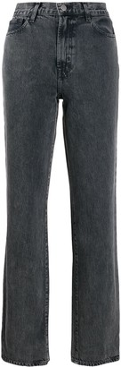 J Brand Washed Effect Straight Jeans