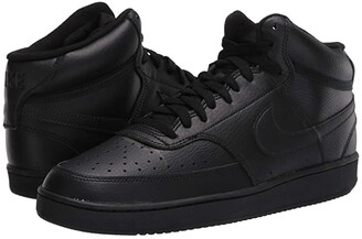 Nike Court Vision Mid (Black/Black/Black) Men's Shoes