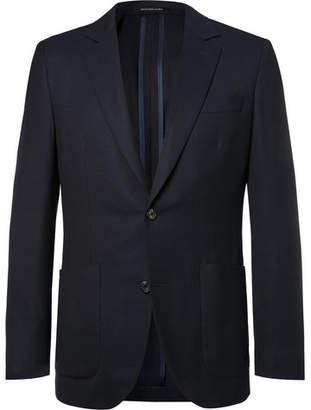 Richard James Navy Spirit Slim-Fit Wool-Hopsack Blazer