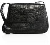 Nancy Gonzalez Large Crocodile Saddle Bag