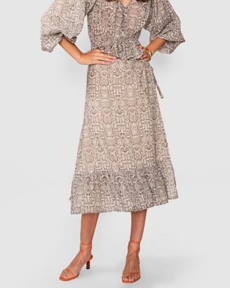 SUBOO Sylvie Wrap Frill Skirt