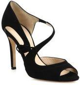 LK Bennett Lucile Asymmetric Suede Sandals