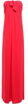 Halston Strapless Knotted Draped Crepe Gown
