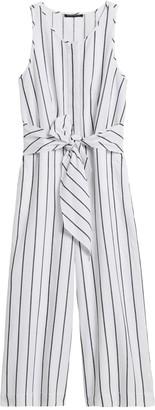 Banana Republic Petite Linen-Cotton Wide-Leg Cropped Jumpsuit