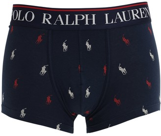 Polo Ralph Lauren All Over Logo Cotton Blend Boxer Briefs