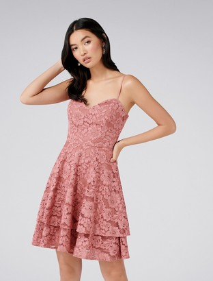 Forever New Annie Lace Soft Prom Dress - Sienna Rose - 4