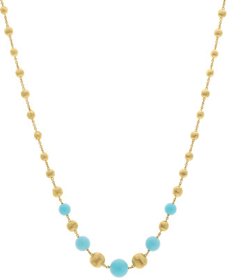 Marco Bicego 18k Africa Short Turquoise Beaded Necklace