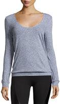 Lanston Back-Drape Pullover, Medium Gray
