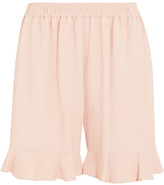 Stella McCartney Contessa Ruffled Stretch-crepe Shorts - Blush
