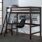 Harriet Bee Felipe Twin Bunk with Study Loft Bed Frame