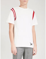 Calvin Klein Shoulder-stripe cotton T-shirt
