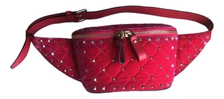 Valentino Rockstud spike Red Velvet Clutch bags