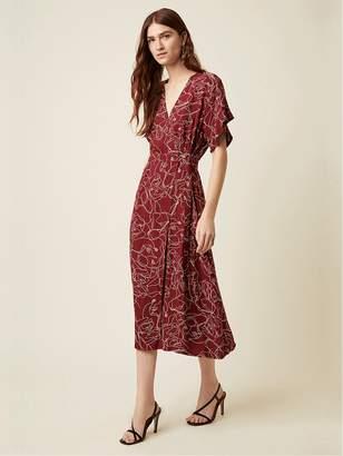 Great Plains Celeste Dress In Cabernet - 6