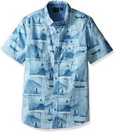 Burnside Men's Smashed Short Sleeve Printed Shirt
