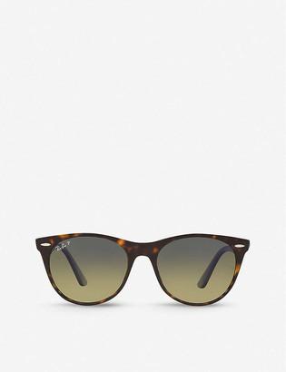 Ray-Ban RB2185 55 Wayfarer Classic II acetate phantos-frame sunglasses