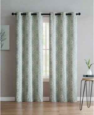 Vcny Home Winstead Printed 38x96 Window Panel Set