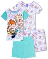 Disney Frozen Sisters Short 4-Piece Girls Pajama Set
