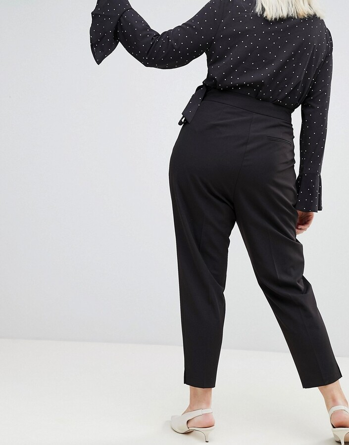 Thumbnail for your product : ASOS DESIGN Curve high waist tapered trousers