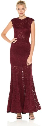 Betsy & Adam Women's Long Lace Mermaid Dress