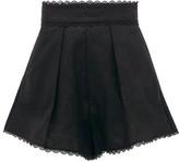 Zimmermann Kirra Scalloped-hem Linen Shorts - Womens - Black