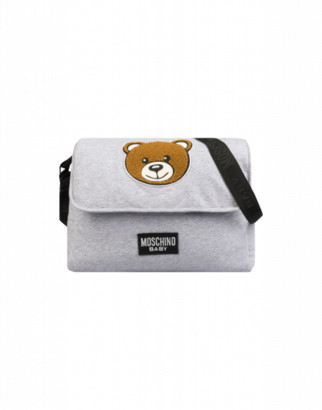 Moschino Mommy Bag With Teddy Bear Patch Unisex Grey Size Single Size