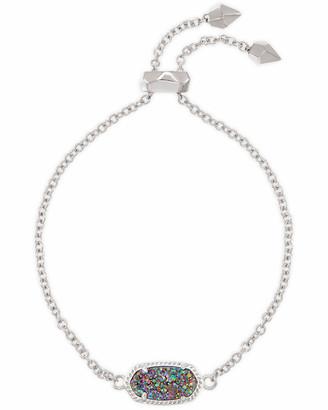 Kendra Scott Elaina Silver Adjustable Chain Bracelet in Multicolor Drusy
