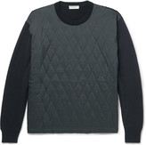 Balenciaga - Quilted Shell And Wool-blend Sweater