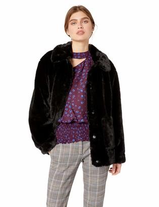 Trina Turk Women's Salma Elegant Classic Faux Fur Coat