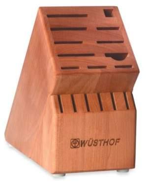 Wusthof 17-Slot Cherry Wood Knife Block