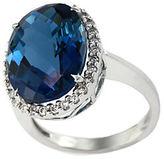 EFFY 14Kt. White Gold London Blue Topaz and Diamond Ring