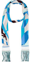 Emilio Pucci Silk Abstract Print Scarf