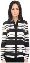 Kate Spade Cape Stripe Silk Shirt Women's Clothing