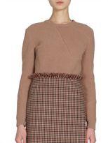 Nina Ricci Geometric Patchwork Wool Sweater