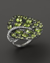 Michael Aram Sterling Silver Large Leaf Peridot Ring