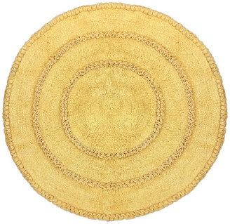 """Butter Shoes Home Weavers Inc. Bloomfield Bath Rug 28"""" Round,"""