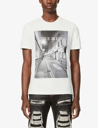 True Religion Alleyway graphic-print cotton-jersey T-shirt