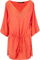 Vix Embroidered muslin coverup