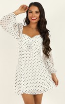 Showpo Sprinkles Dress in white polka - 10 (M) Dresses