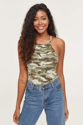 Ardene ME to WE Basic Halter Camo Tank Top