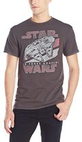 Star Wars Men's The Force Awakens Millennium Falcon Vintage T-Shirt